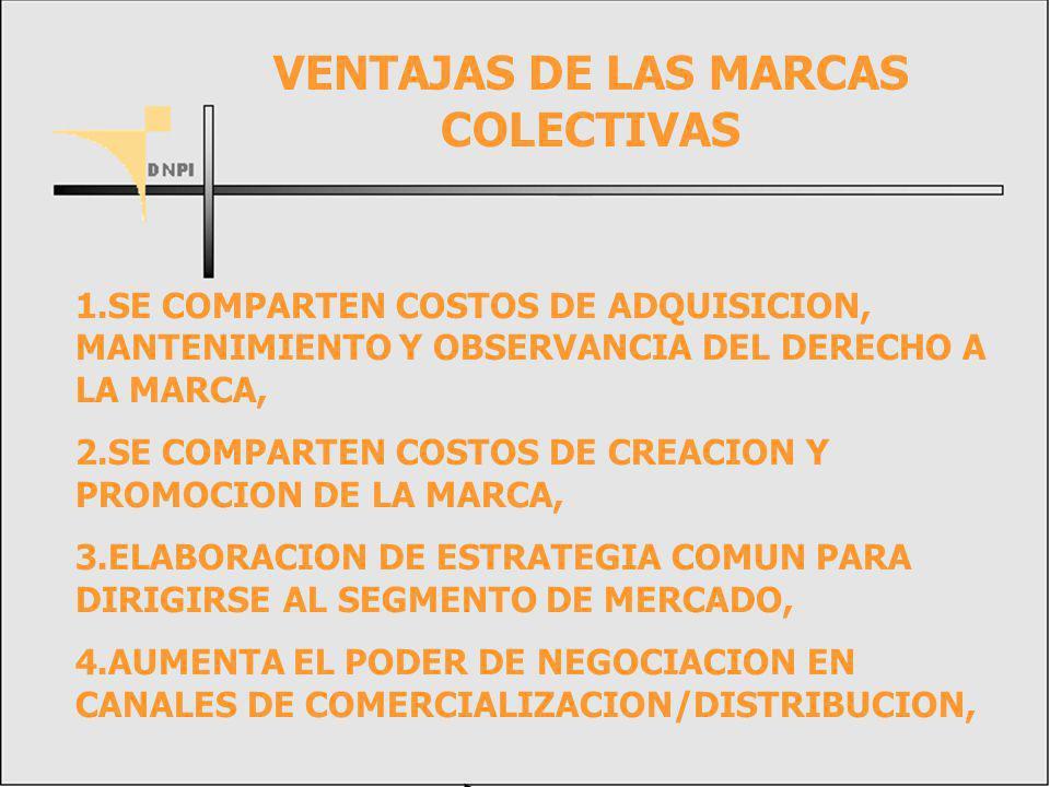 VENTAJAS DE LAS MARCAS COLECTIVAS