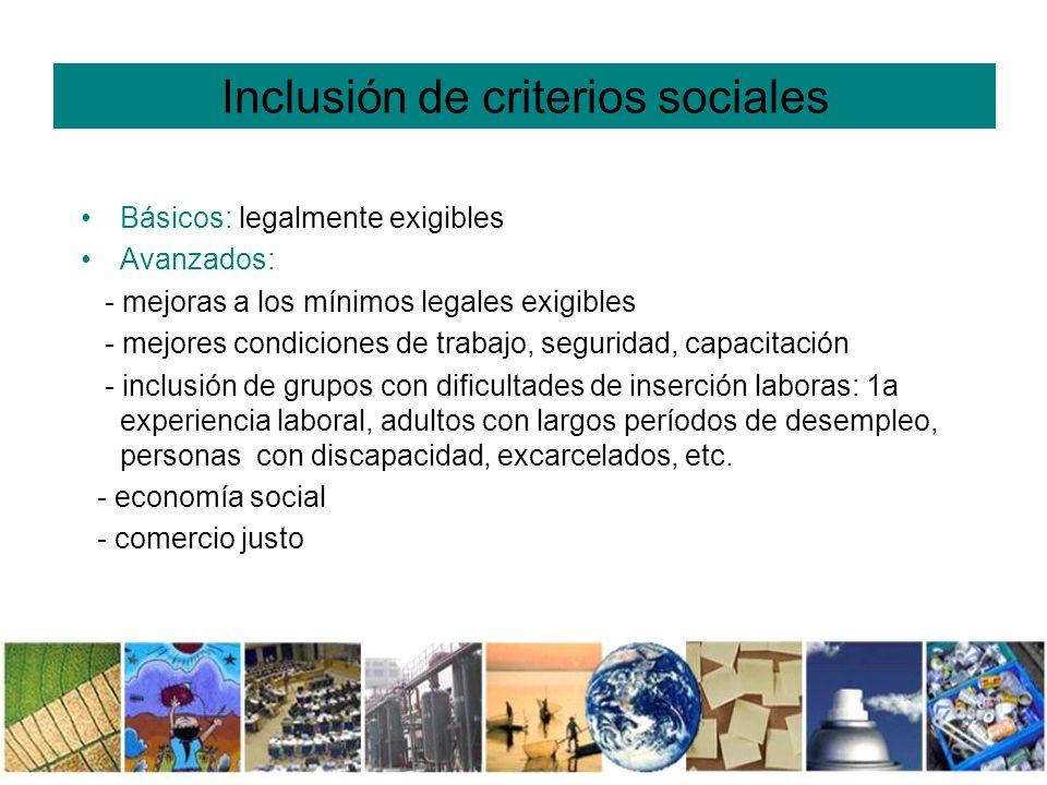 Inclusión de criterios sociales