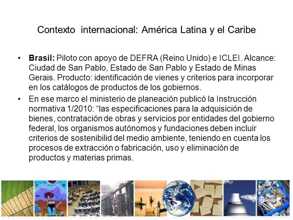 Contexto internacional: América Latina y el Caribe