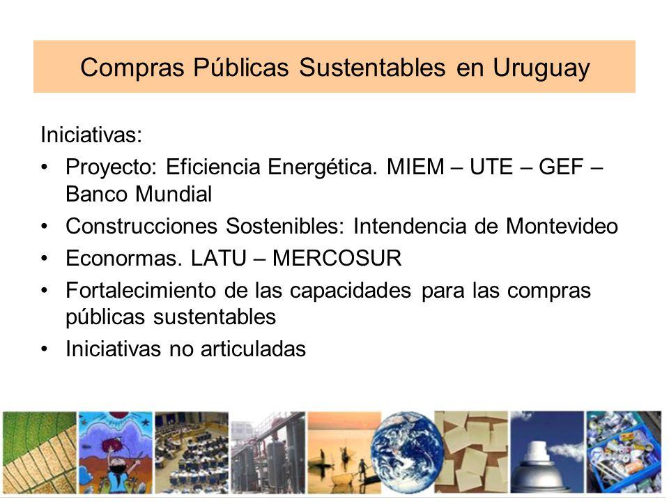 Compras Públicas Sustentables en Uruguay