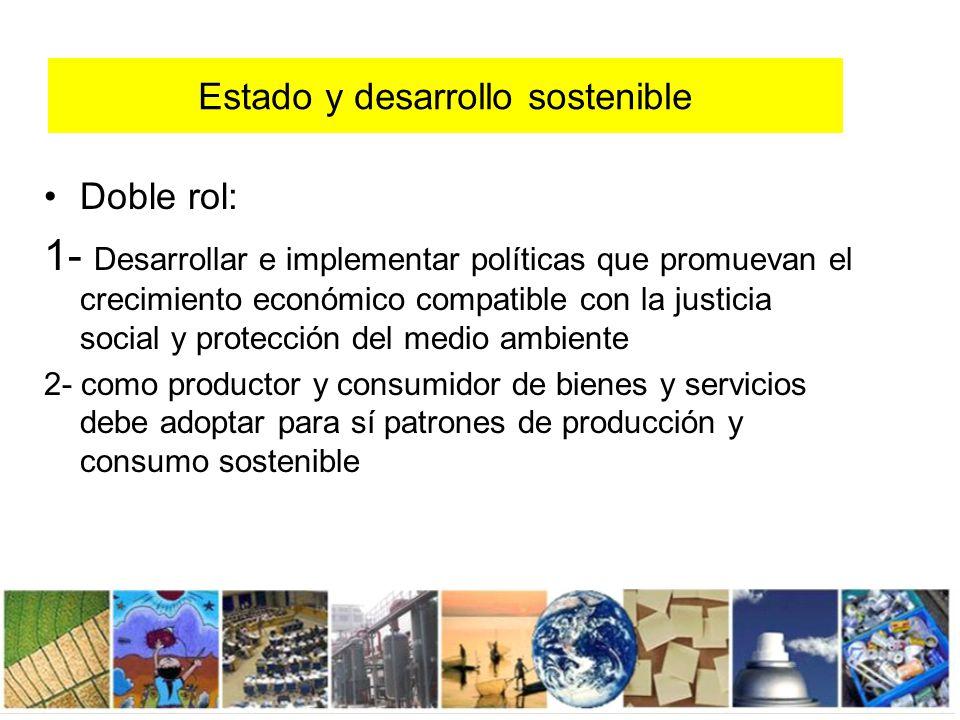 Estado y desarrollo sostenible