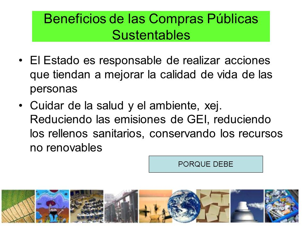 Beneficios de las Compras Públicas Sustentables