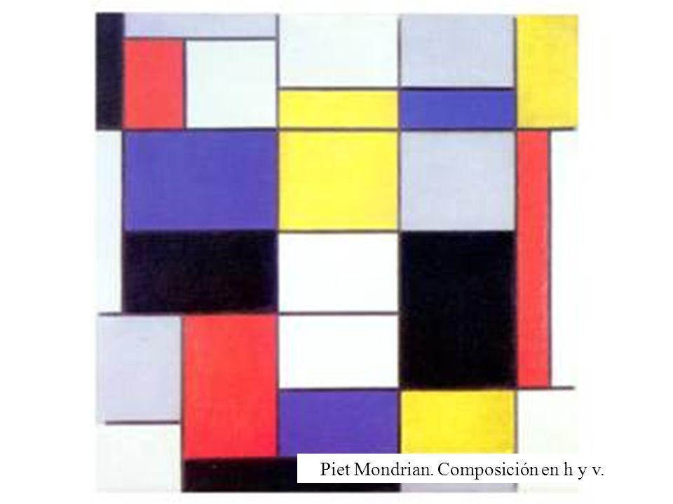 Piet Mondrian. Composición en h y v.