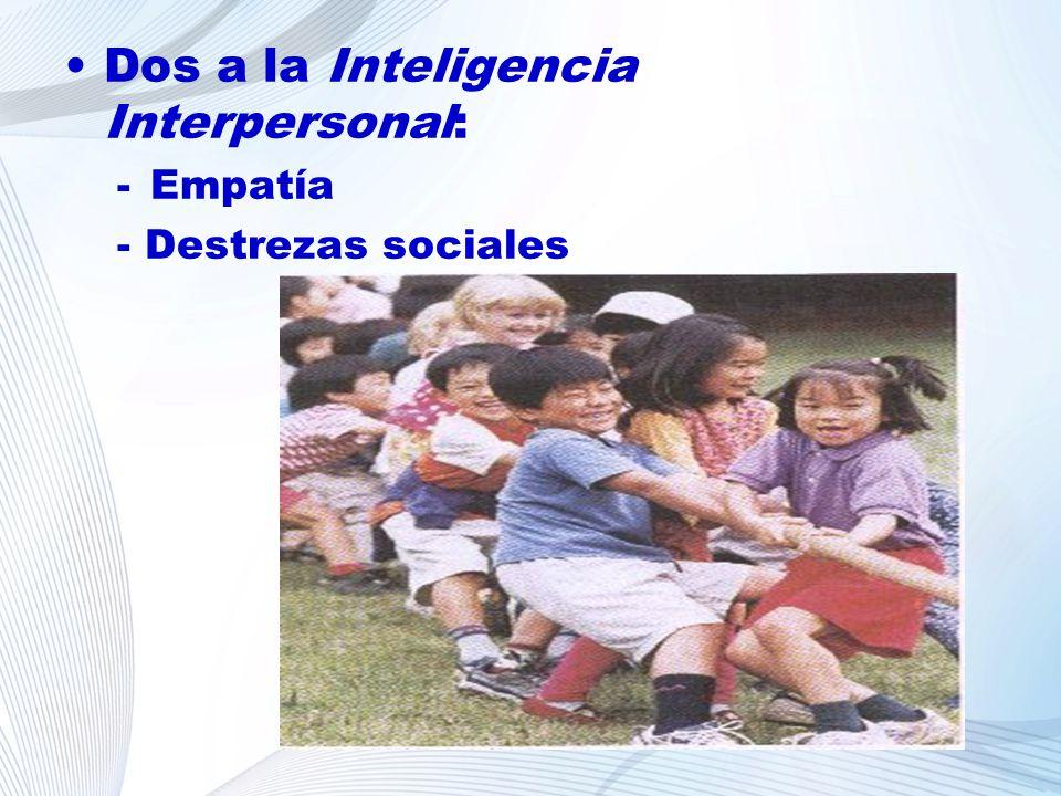 Dos a la Inteligencia Interpersonal: