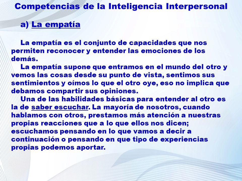Competencias de la Inteligencia Interpersonal