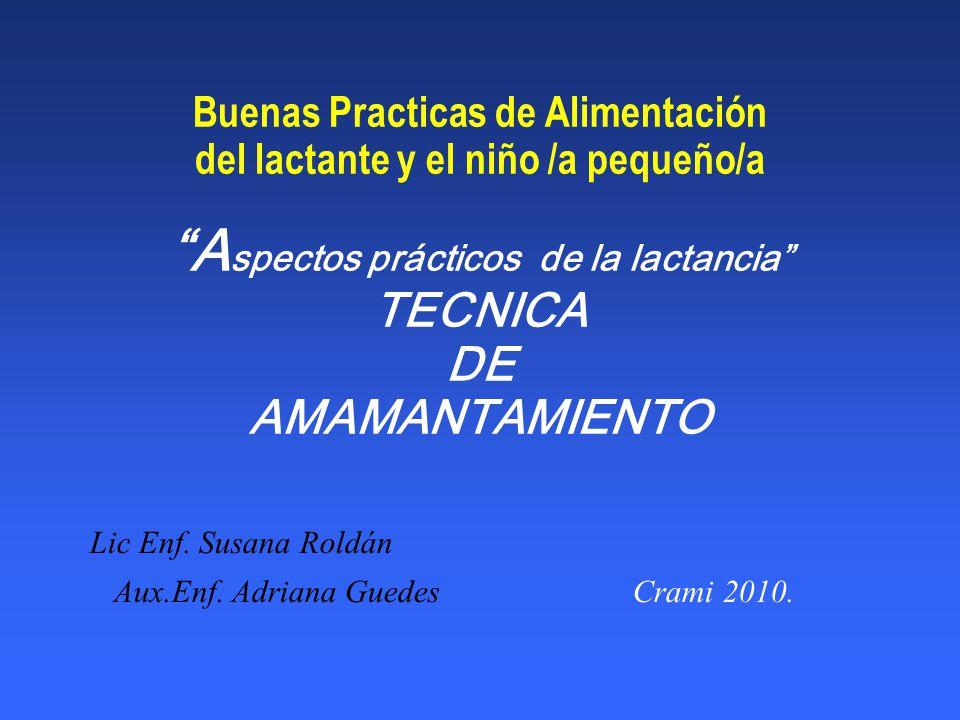Lic Enf. Susana Roldán Aux.Enf. Adriana Guedes Crami 2010.
