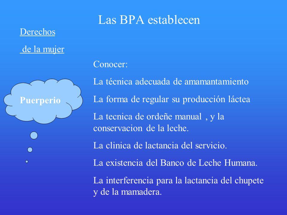 Las BPA establecen Derechos de la mujer Conocer: