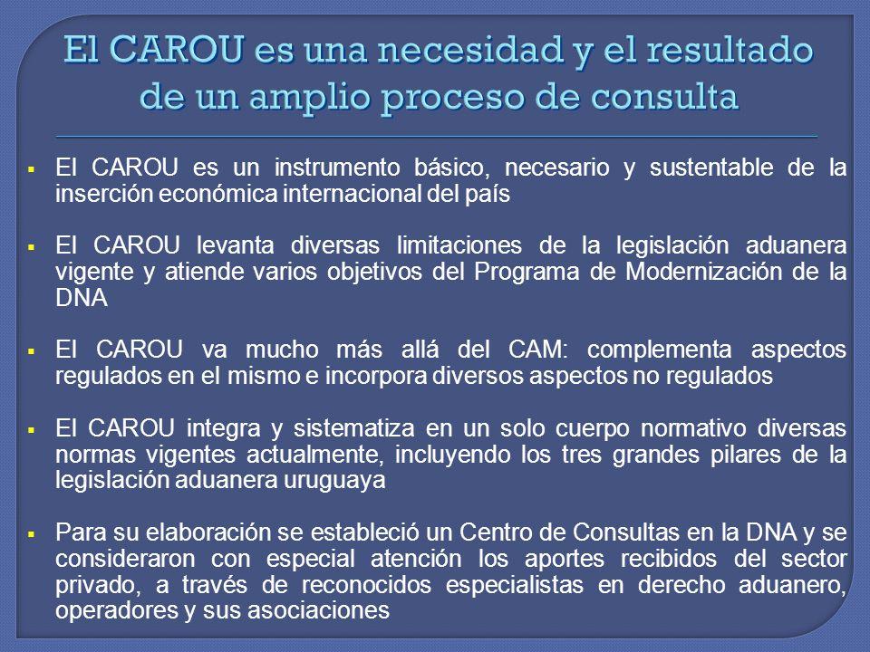El CAROU es una necesidad y el resultado de un amplio proceso de consulta