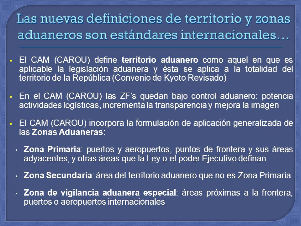 Las nuevas definiciones de territorio y zonas aduaneros son estándares internacionales…