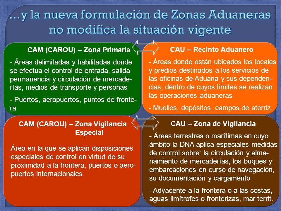 ...y la nueva formulación de Zonas Aduaneras no modifica la situación vigente