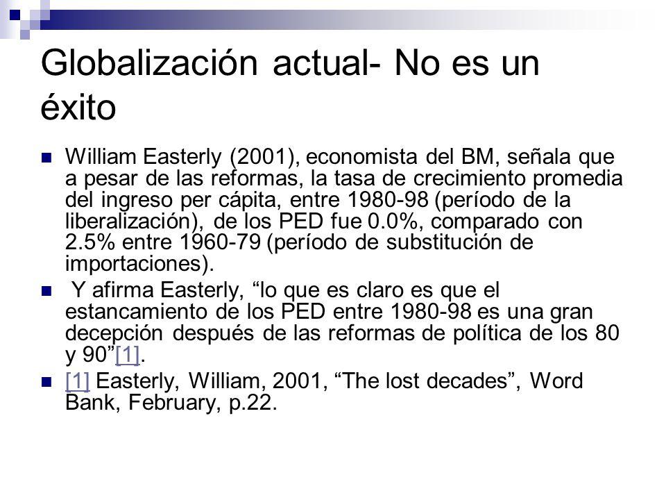Globalización actual- No es un éxito