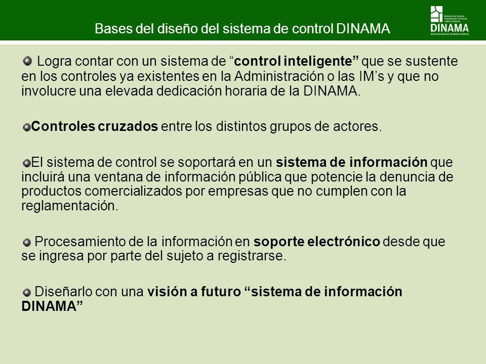 Bases del diseño del sistema de control DINAMA