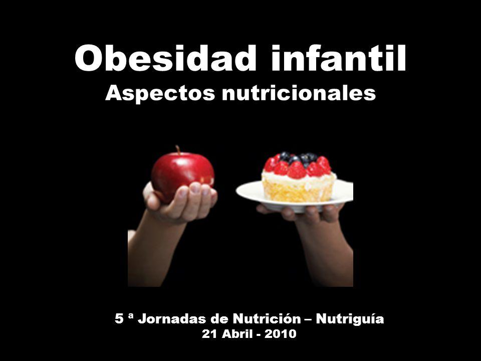 Aspectos nutricionales 5 ª Jornadas de Nutrición – Nutriguía