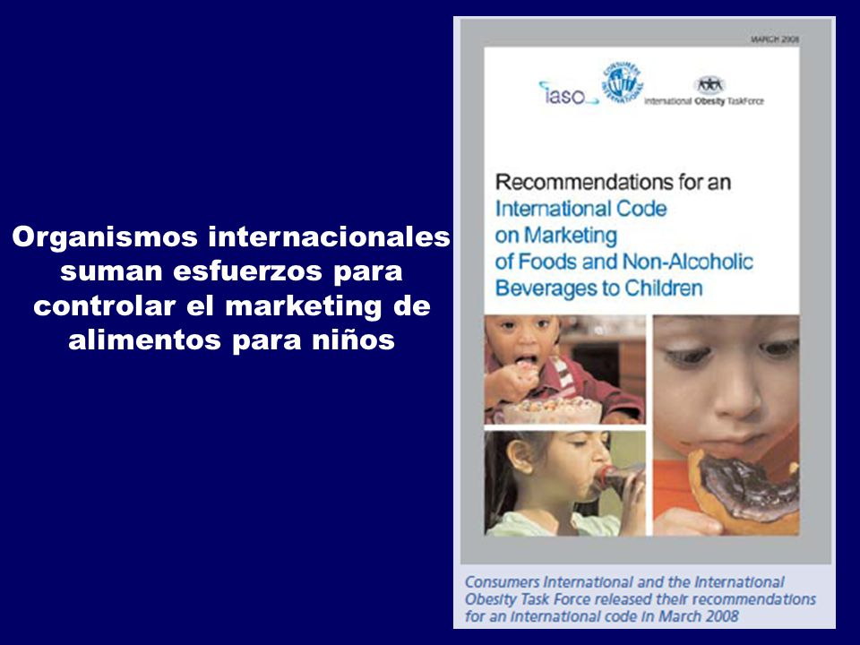 Organismos internacionales controlar el marketing de