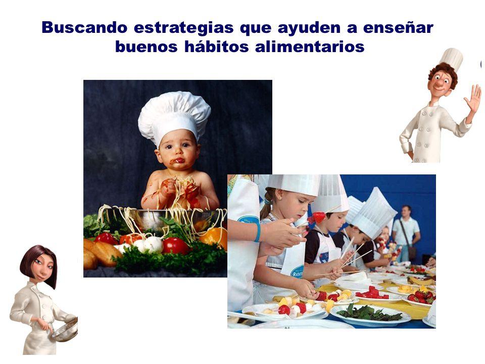 Buscando estrategias que ayuden a enseñar buenos hábitos alimentarios