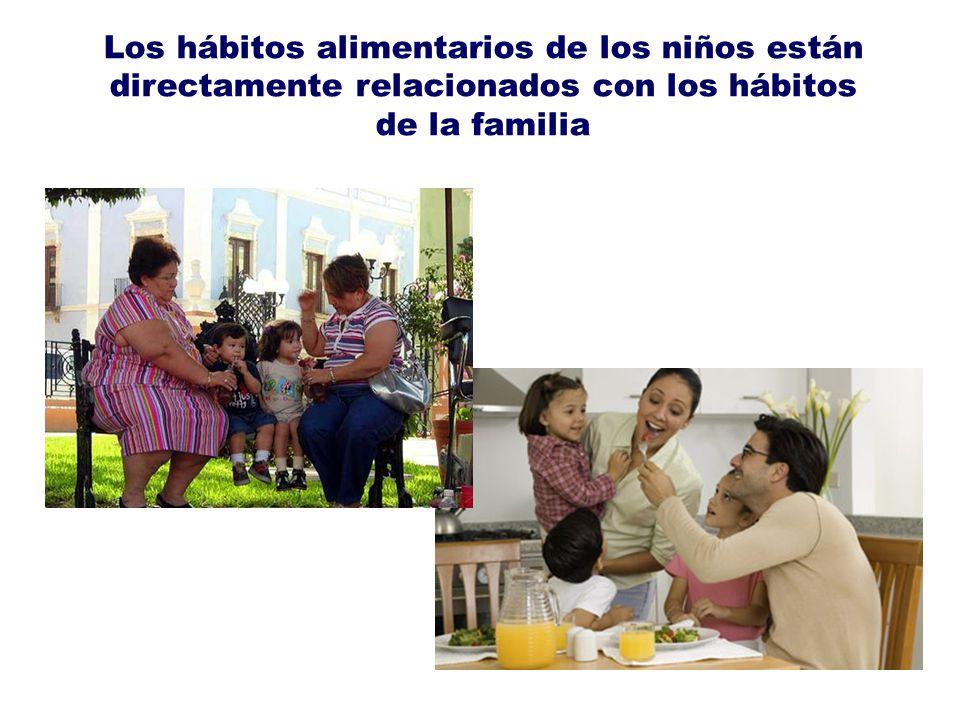 Los hábitos alimentarios de los niños están