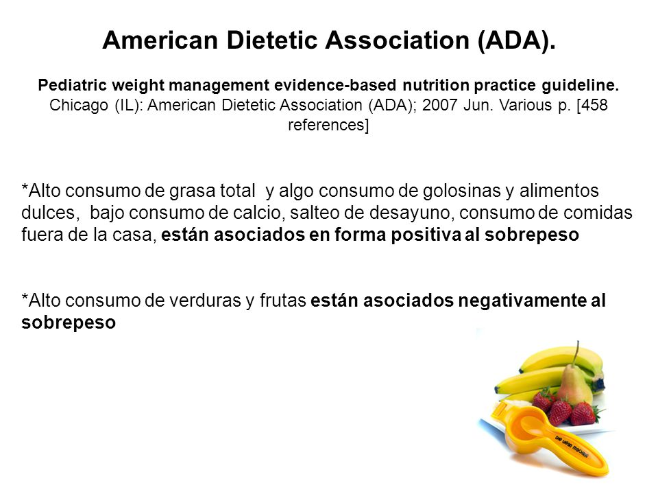 American Dietetic Association (ADA).