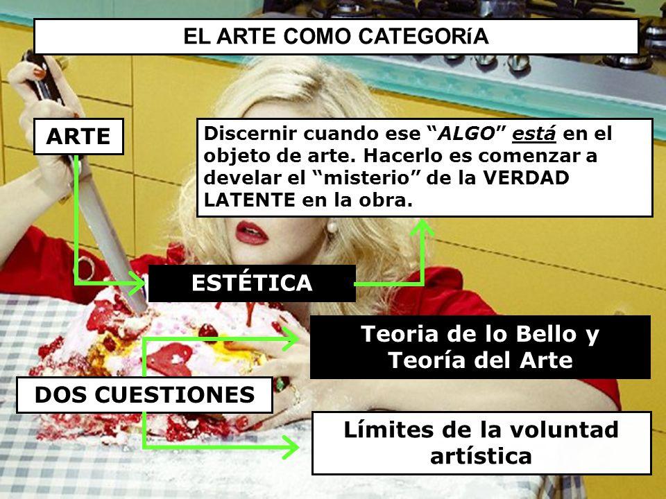 Teoria de lo Bello y Teoría del Arte Límites de la voluntad artística