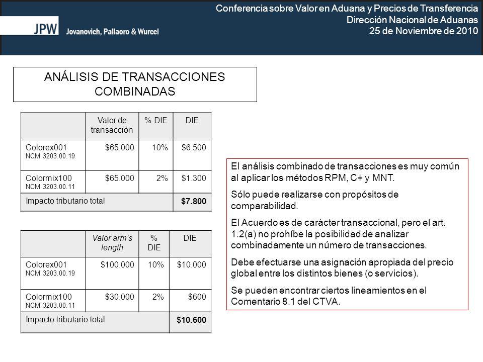 ANÁLISIS DE TRANSACCIONES COMBINADAS