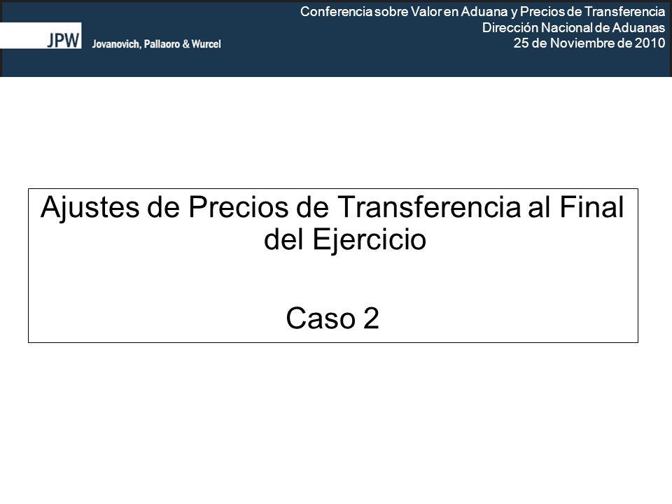 Ajustes de Precios de Transferencia al Final del Ejercicio