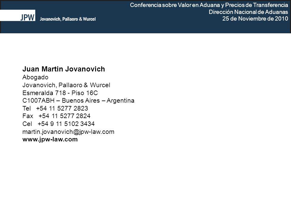 Juan Martin Jovanovich Abogado