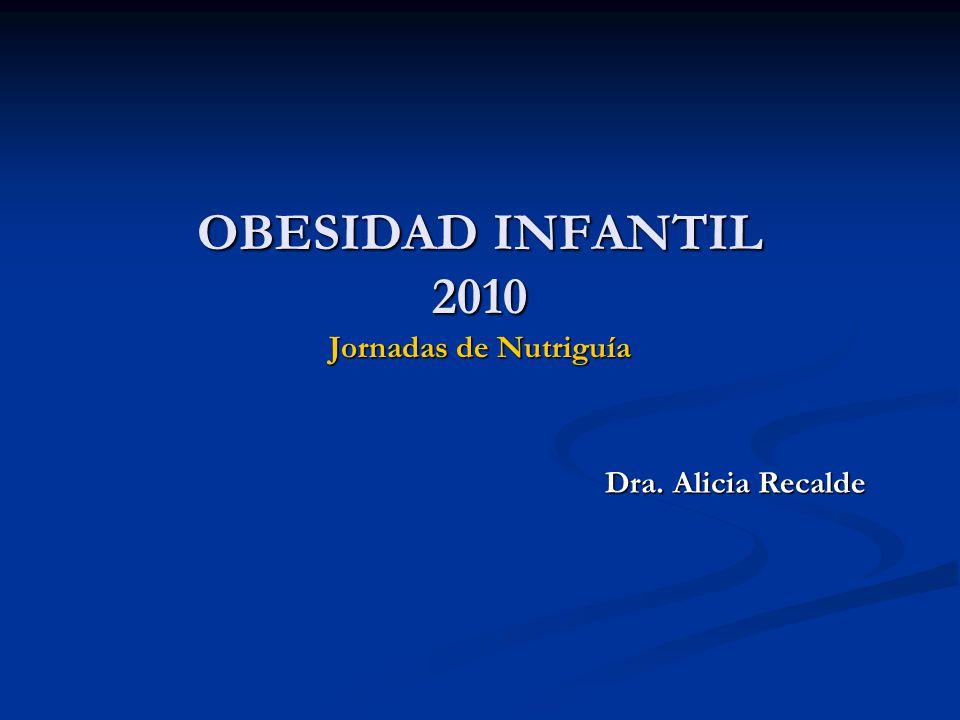 OBESIDAD INFANTIL 2010 Jornadas de Nutriguía