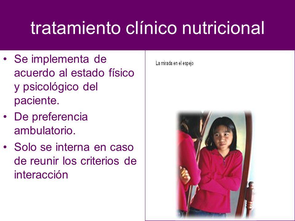 tratamiento clínico nutricional