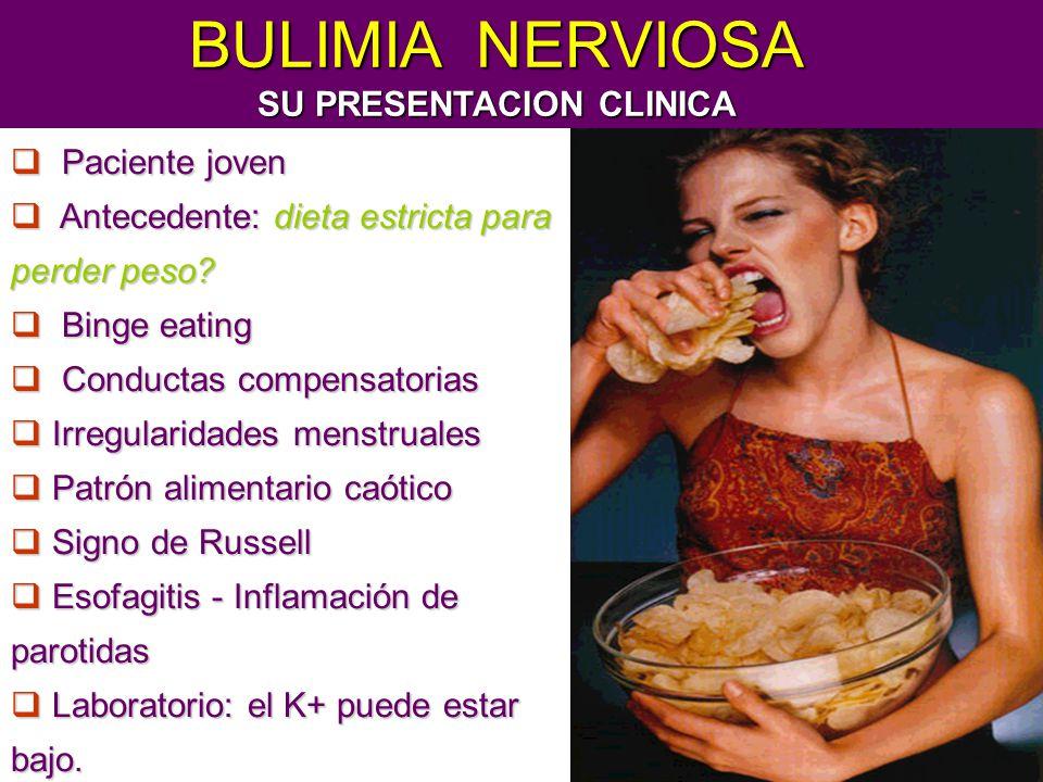 BULIMIA NERVIOSA SU PRESENTACION CLINICA