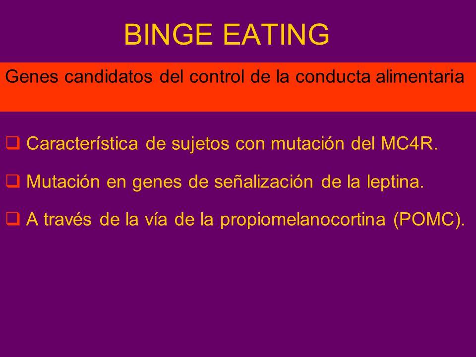 BINGE EATING Genes candidatos del control de la conducta alimentaria