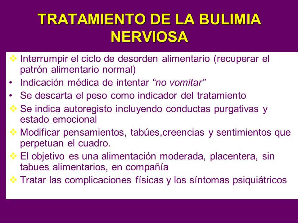 TRATAMIENTO DE LA BULIMIA NERVIOSA