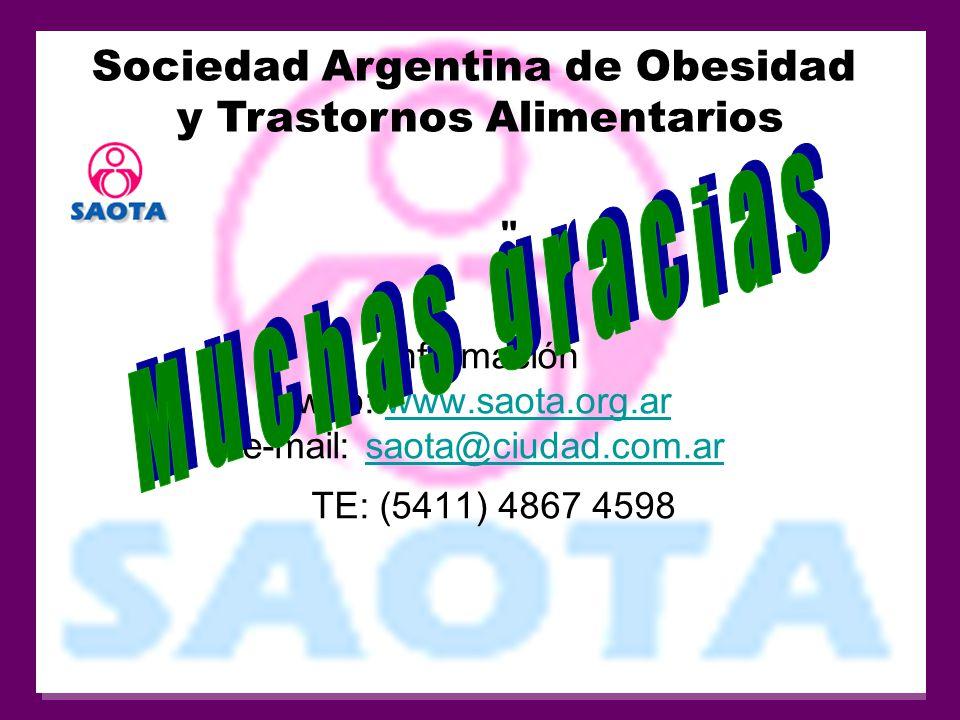 Muchas gracias Sociedad Argentina de Obesidad