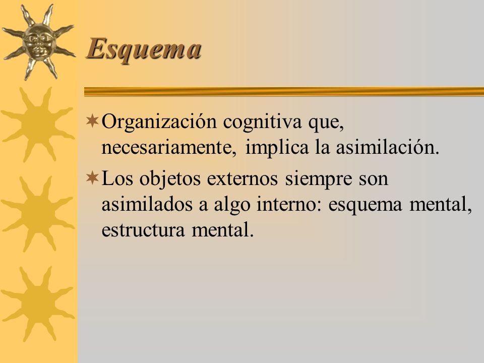 Esquema Organización cognitiva que, necesariamente, implica la asimilación.