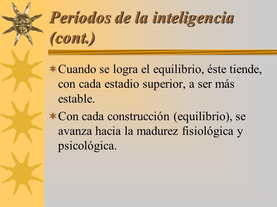 Períodos de la inteligencia (cont.)