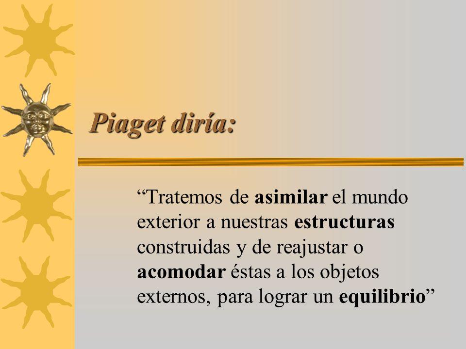 Piaget diría: