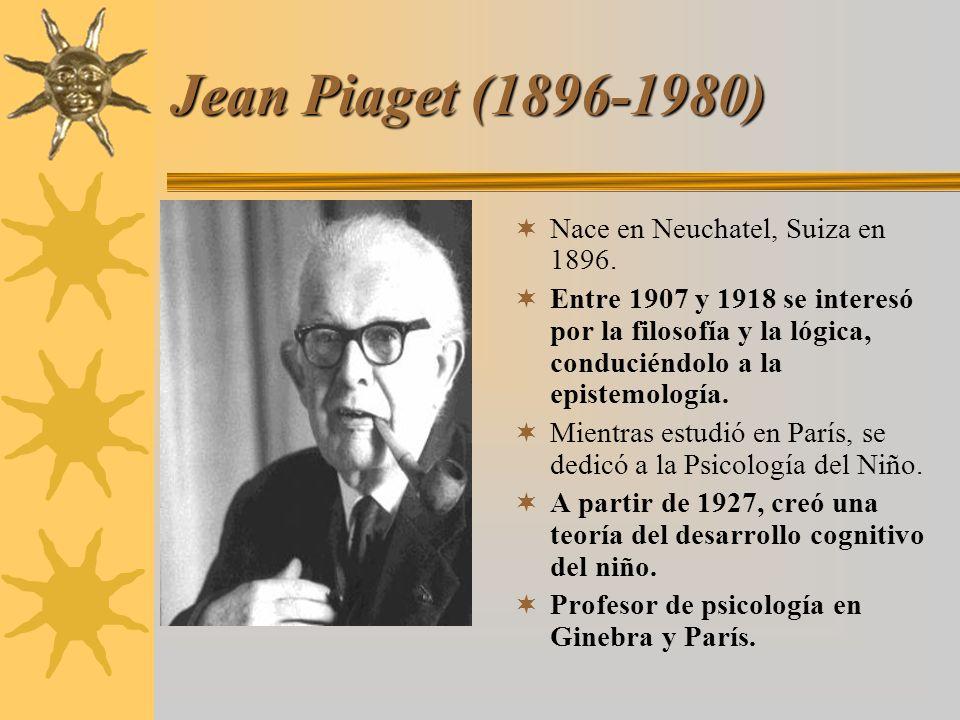 Jean Piaget (1896-1980) Nace en Neuchatel, Suiza en 1896.