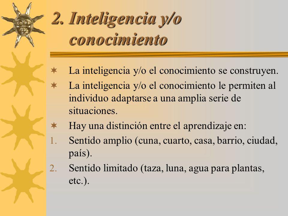 2. Inteligencia y/o conocimiento