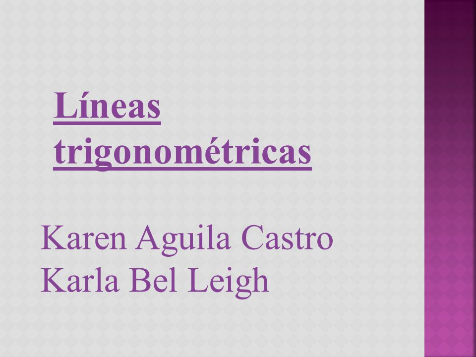 Líneas trigonométricas