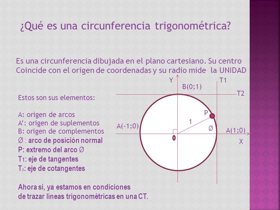 ¿Qué es una circunferencia trigonométrica