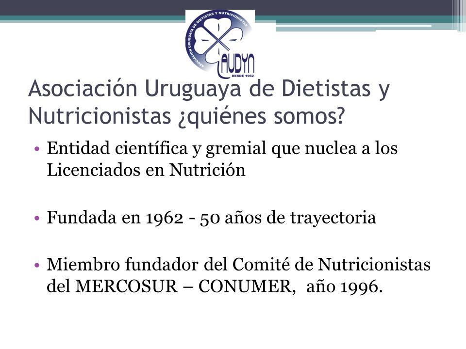 Asociación Uruguaya de Dietistas y Nutricionistas ¿quiénes somos
