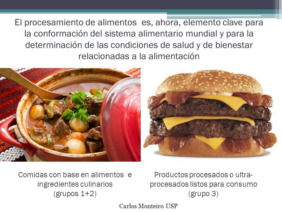 El procesamiento de alimentos es, ahora, elemento clave para la conformación del sistema alimentario mundial y para la determinación de las condiciones de salud y de bienestar relacionadas a la alimentación