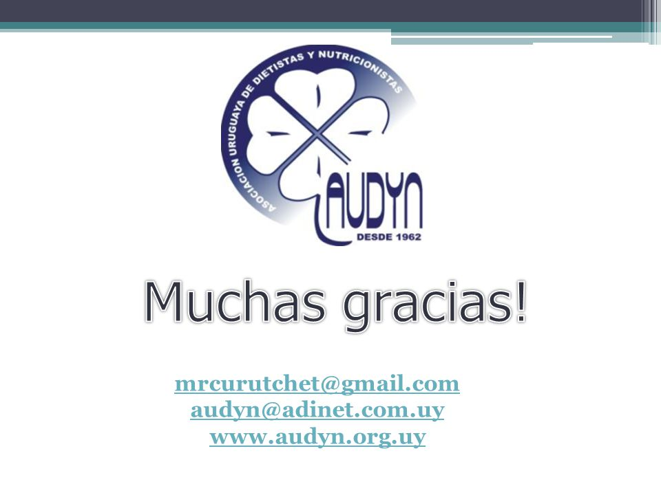 Muchas gracias! mrcurutchet@gmail.com audyn@adinet.com.uy
