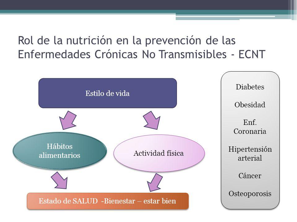 Rol de la nutrición en la prevención de las Enfermedades Crónicas No Transmisibles - ECNT