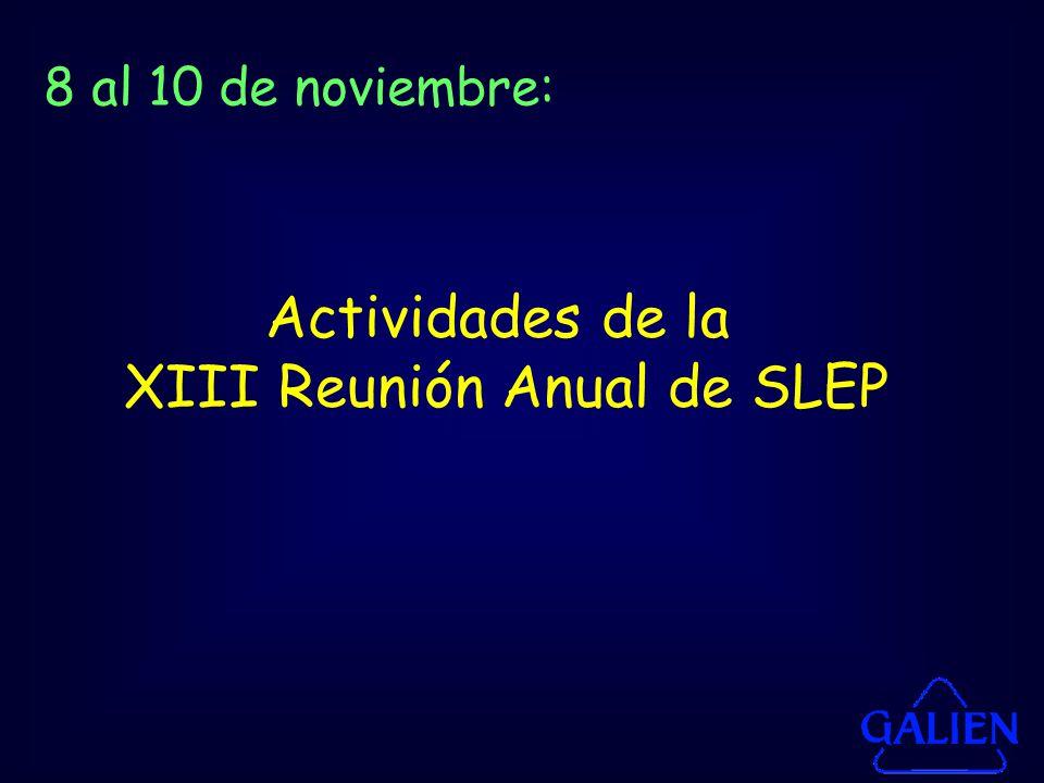 XIII Reunión Anual de SLEP