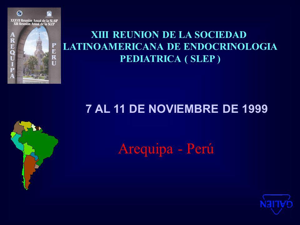 XIII REUNION DE LA SOCIEDAD LATINOAMERICANA DE ENDOCRINOLOGIA