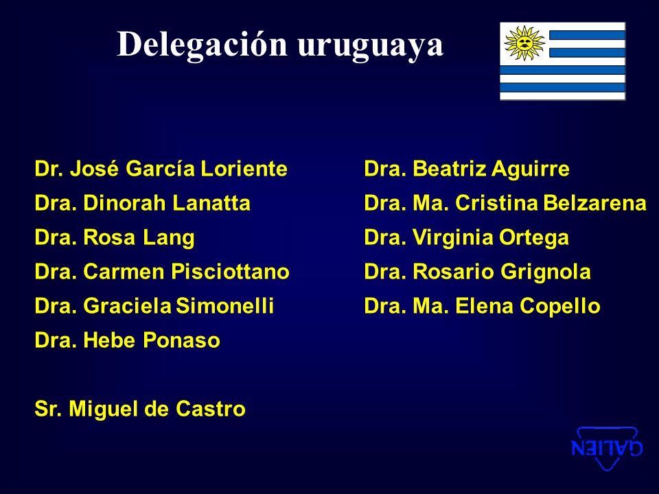 Delegación uruguaya Dr. José García Loriente Dra. Beatriz Aguirre