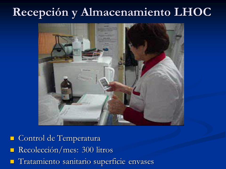 Recepción y Almacenamiento LHOC