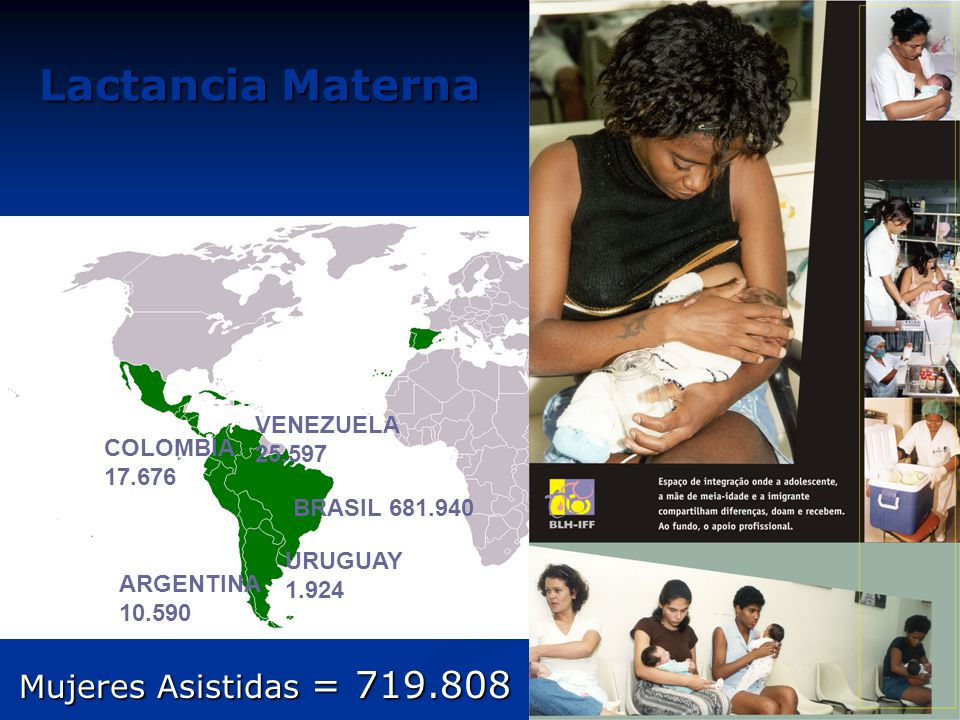Lactancia Materna Mujeres Asistidas = 719.808 VENEZUELA 25.597