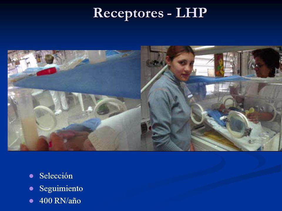 Receptores - LHP Selección Seguimiento 400 RN/año