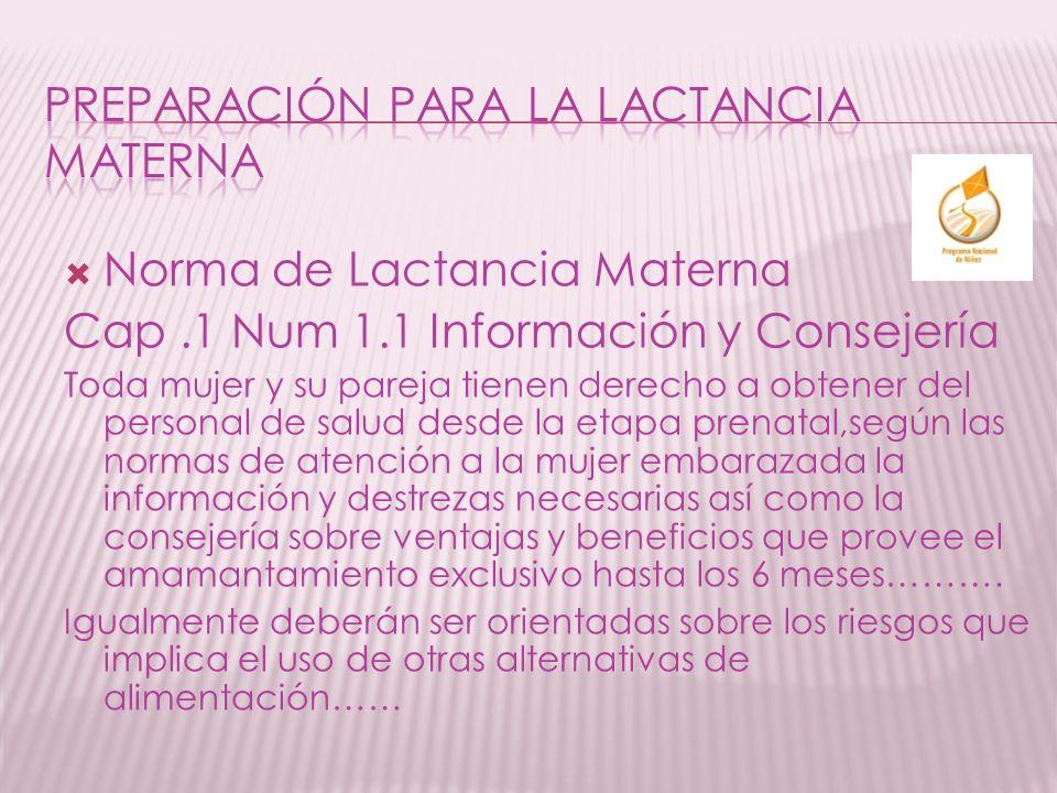 PREPARACIÓN PARA LA LACTANCIA MATERNA