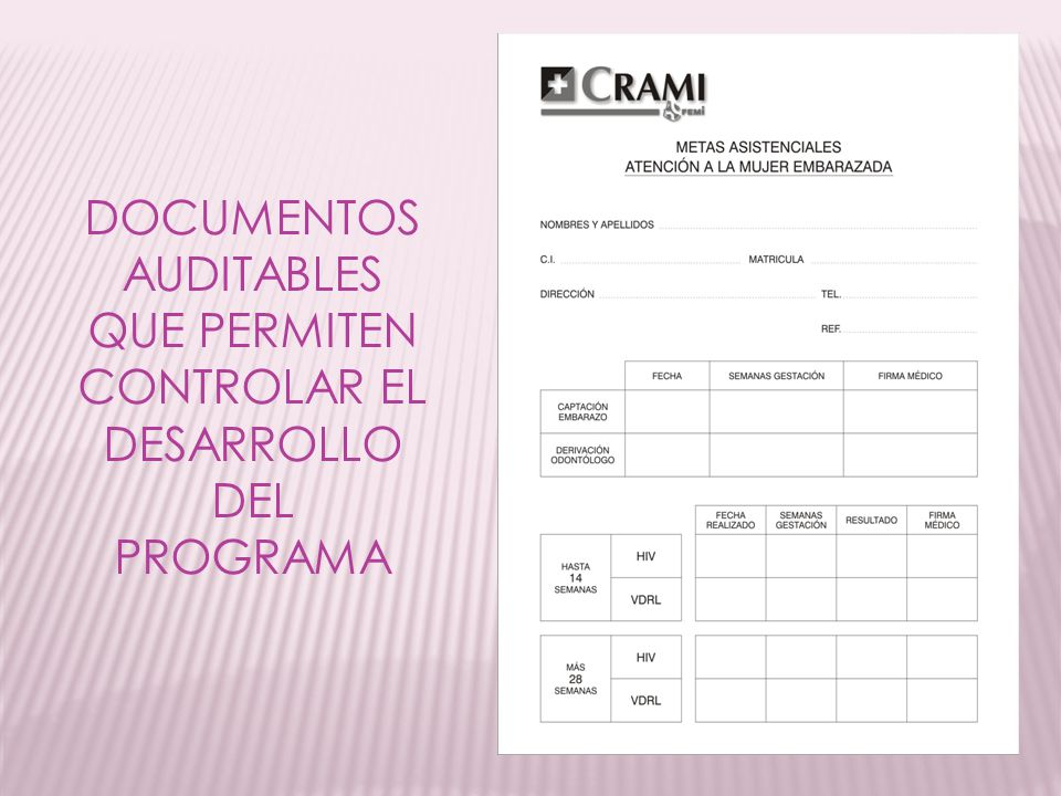 DOCUMENTOS AUDITABLES QUE PERMITEN